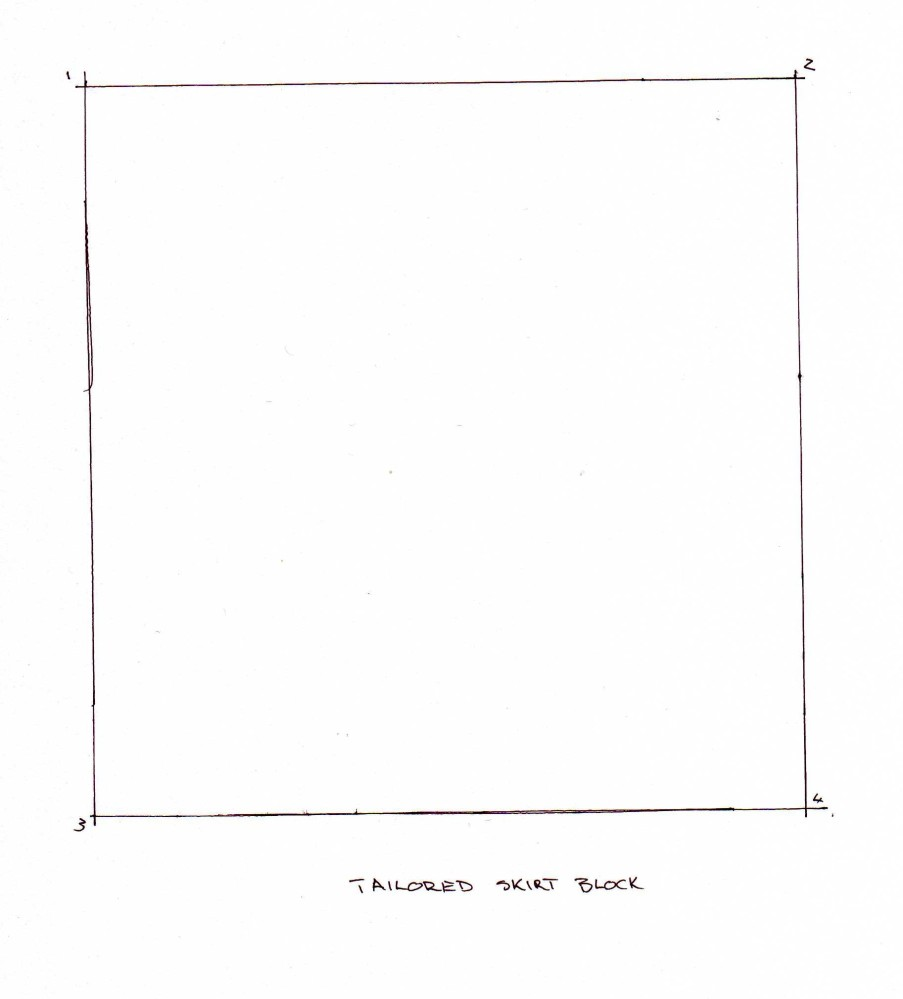 Drafting a Skirt Block (3/6)
