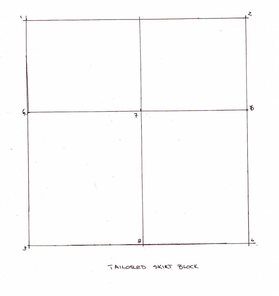 Drafting a Skirt Block (4/6)