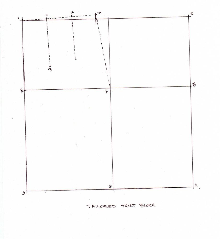 Drafting a Skirt Block (5/6)