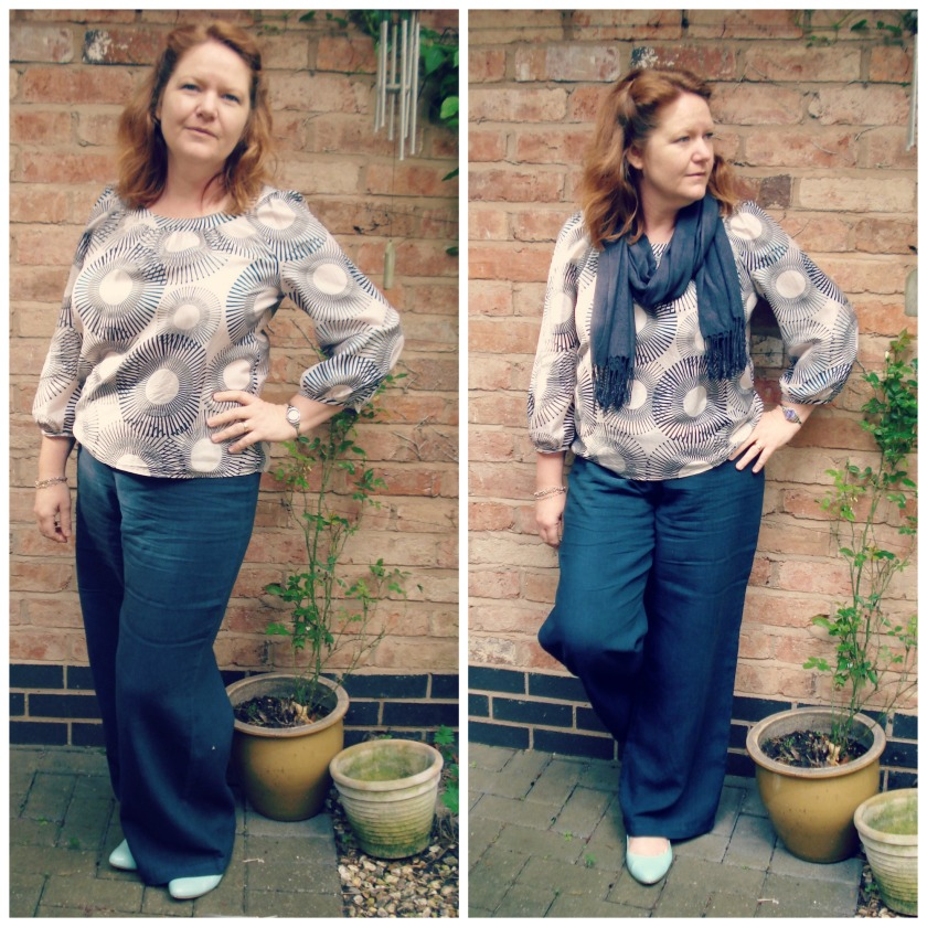Atomic blouse & Burdastyle pants