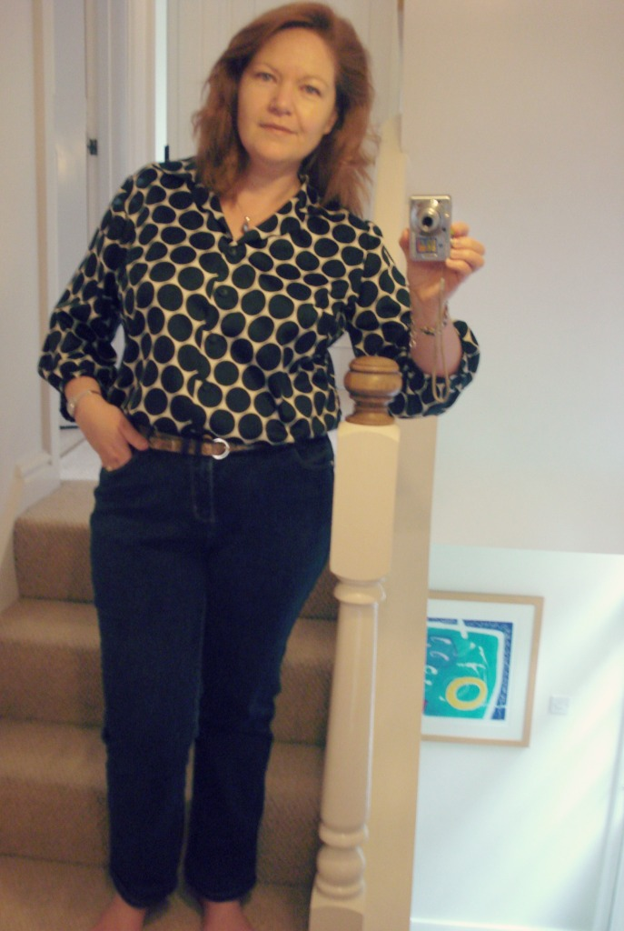 Jeans (bought) & self drafted blouse