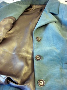 Lining & pretty silver buttons