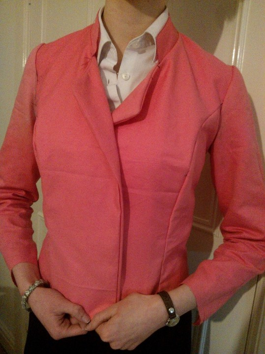 Biker-style jacket toile, & no, I haven't ironed it  yet..
