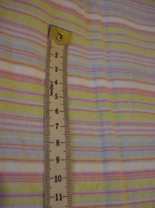 Stripe cotton seersucker 1.5m x 140cm wide