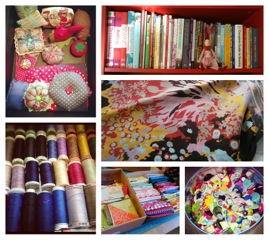 Books, fabrics, notions...