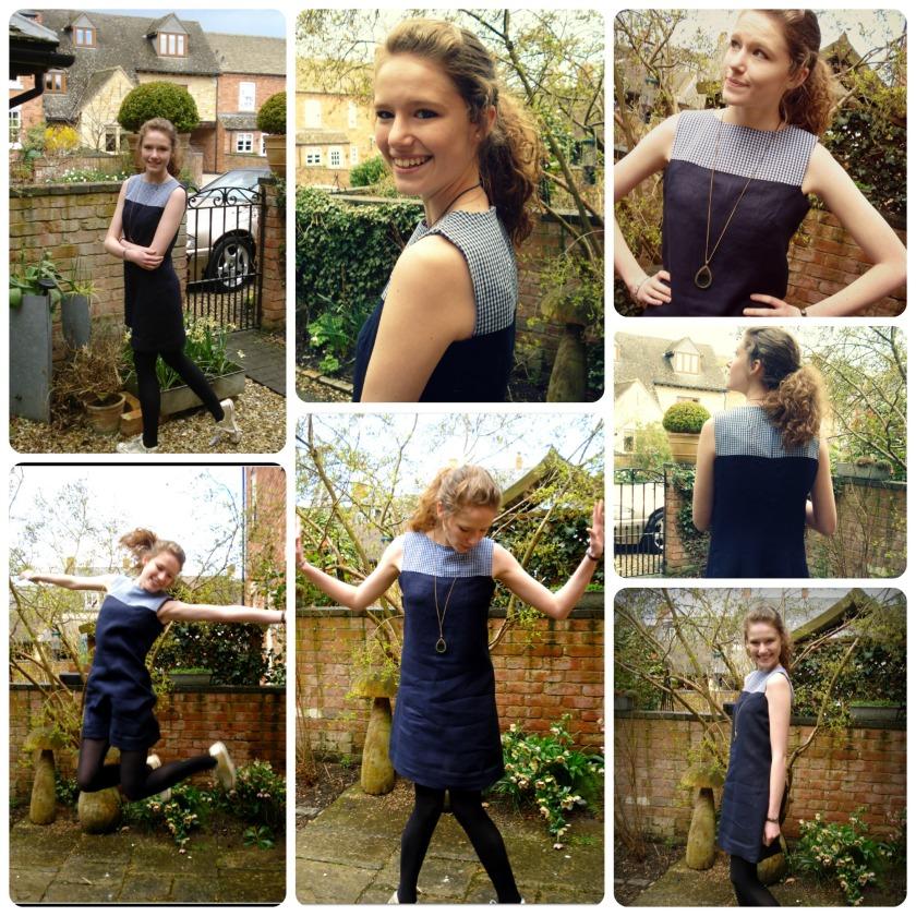 Blue 60's dress