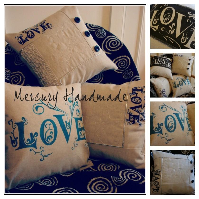 """""""Love"""" cushions"""