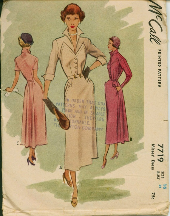 McCalls 7719 afternoon frock  with interesting pockets