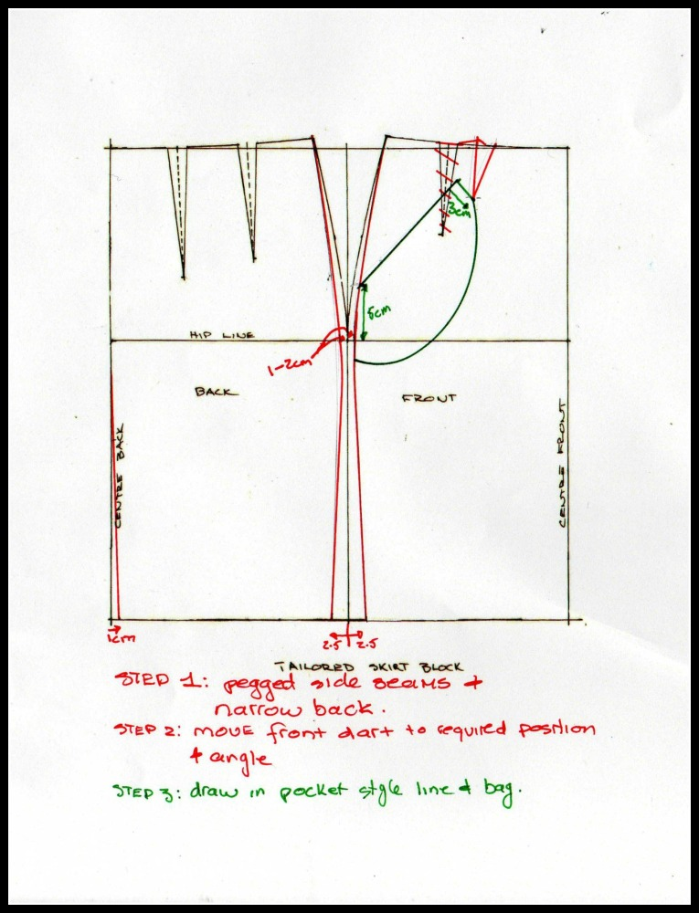 How to Make a Wiggle Skirt - Veronica (4/5)