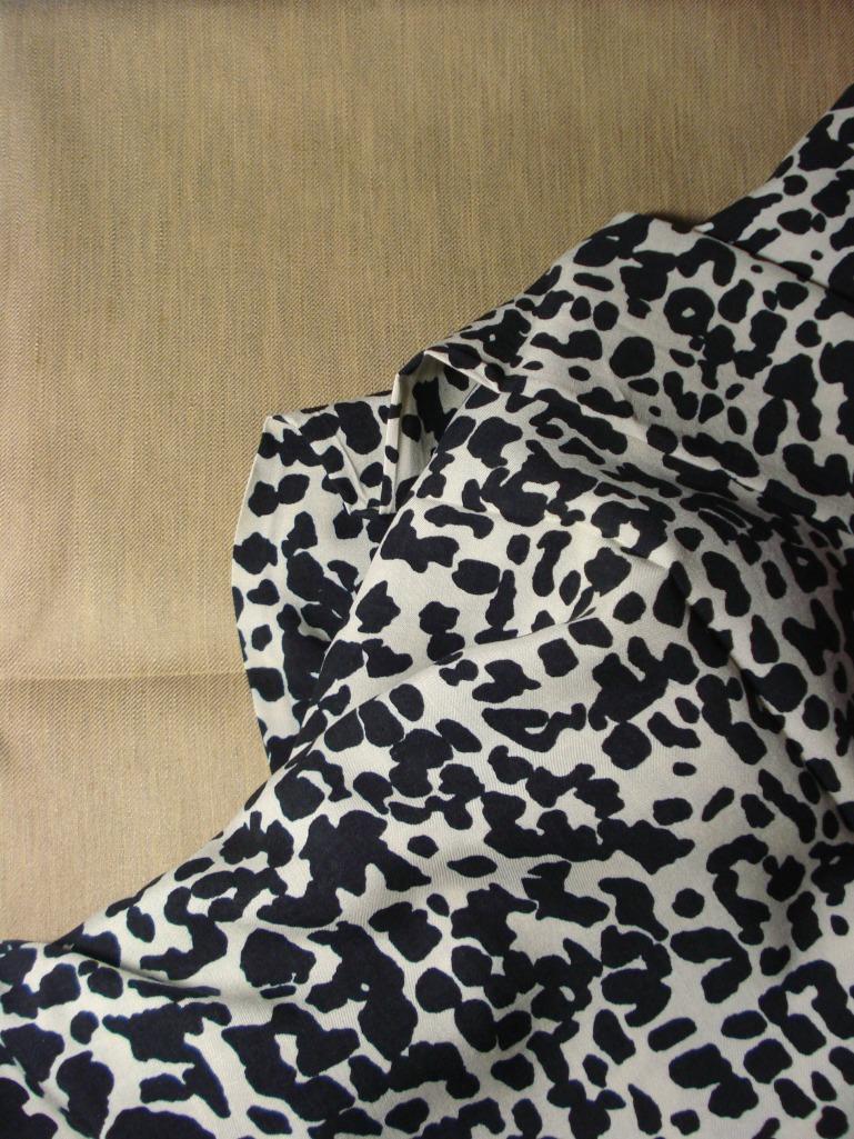 Caramel linen blend & leopard print viscose from Ditto Fabrics