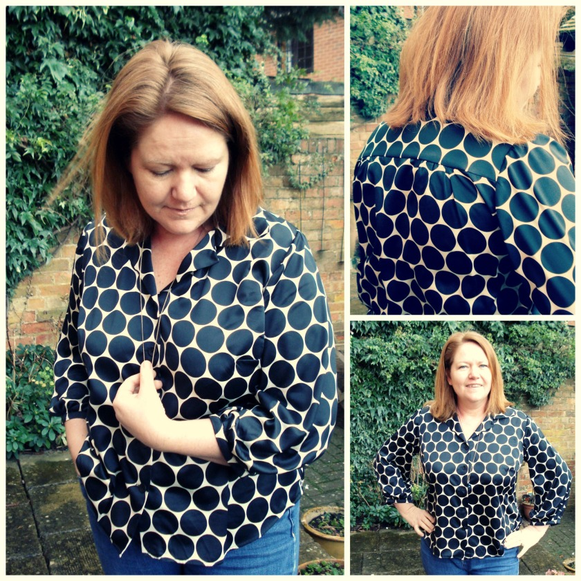 bishop sleeve blouse collage