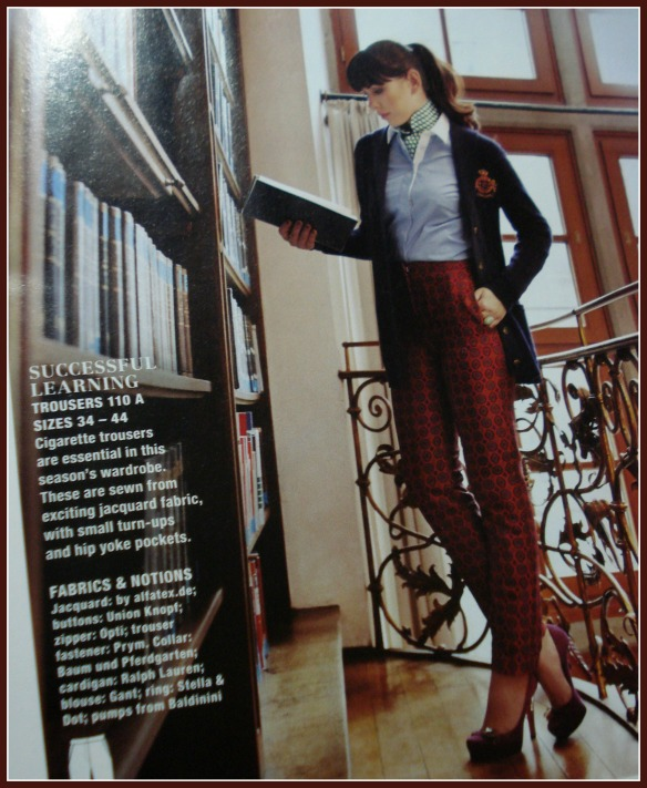 Trousers 110 from BurdaStyle 111/2013
