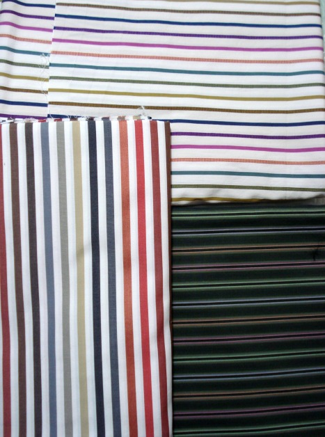 ex-Paul Smith stripe cottons for Husband's shirt