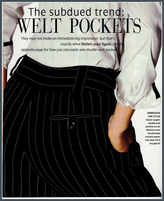 Welt detail for trousers 105