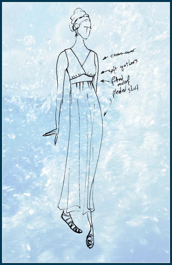 Maxi-dress sketch