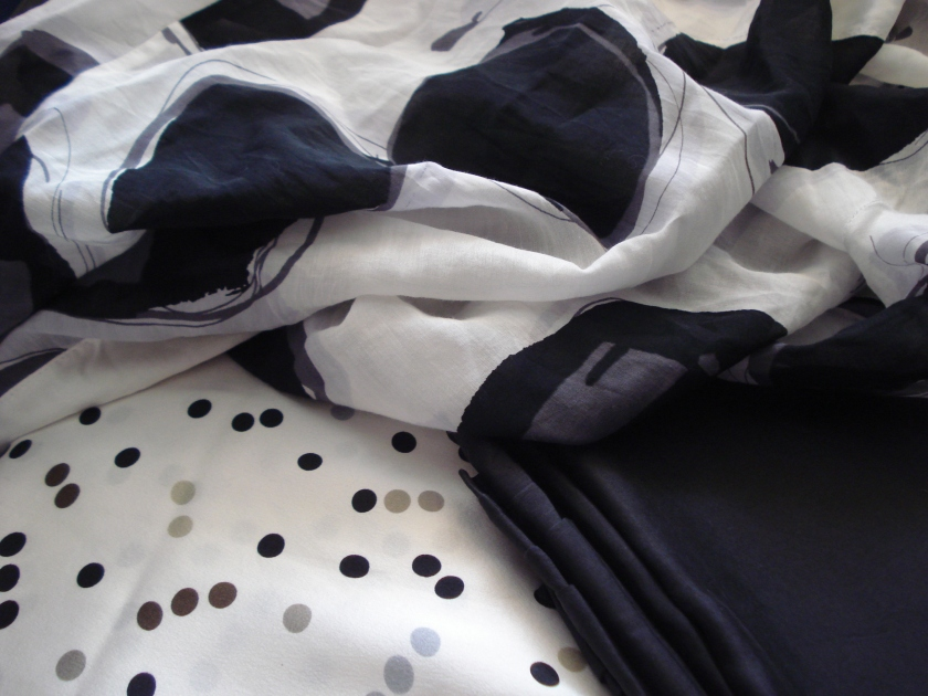 silks, spotty & plain
