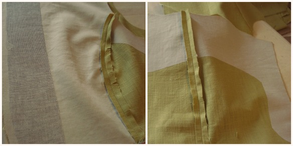 Interfacing , front & undercollar and the back