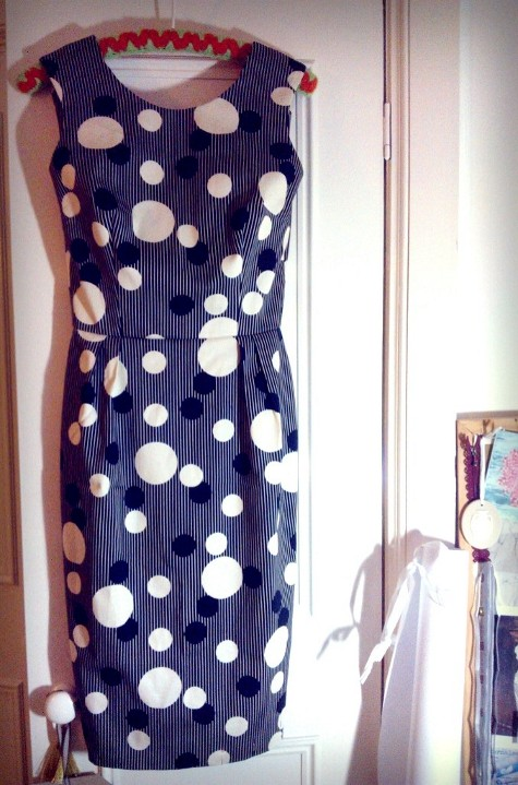 Self drafted 50's inspired wiggle dress