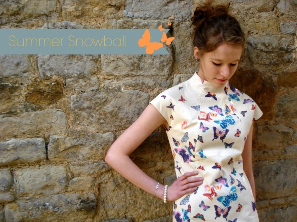 The Snowball dress by Waffle Patterns