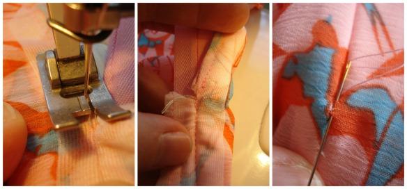 Finishing off the seam & zip