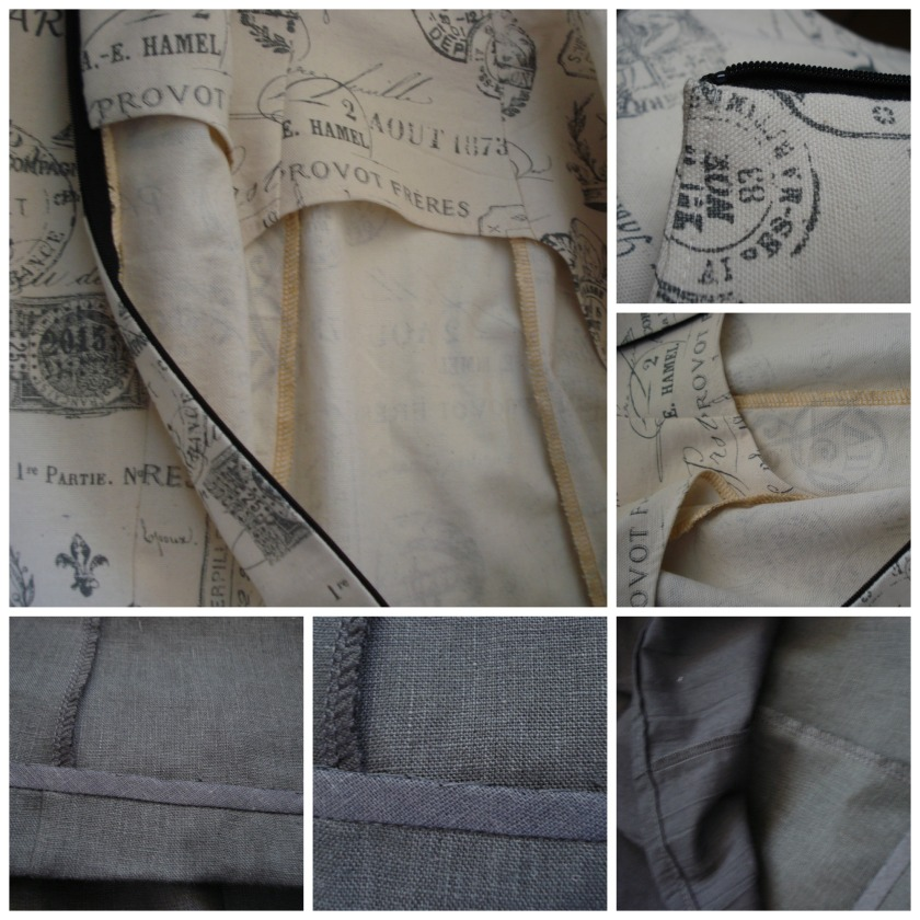 Overlocked seams and bound hem, the inner workings of the Paris Snowball