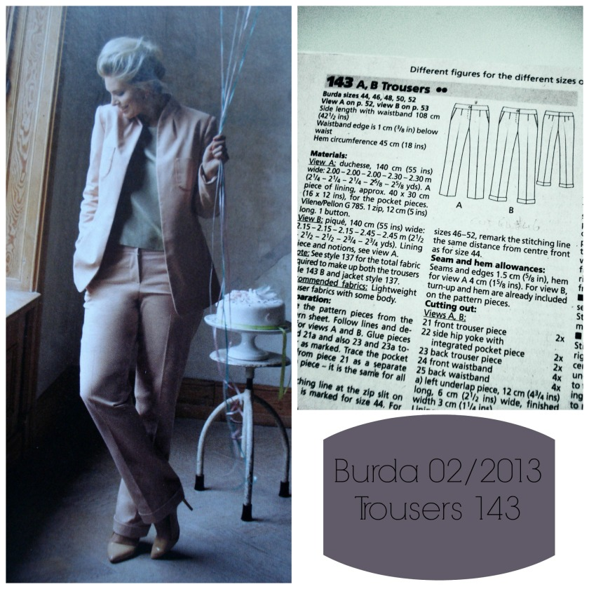 Trousers 143 from Burdastyle 2/2013