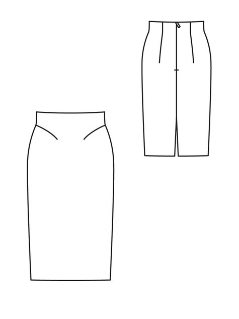 Technical drawing from Burdastyle