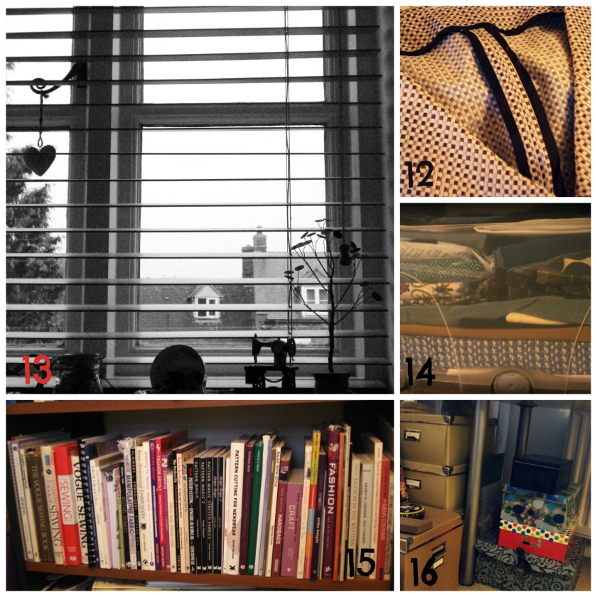 Days 12-16   Favourite Finish, View, UFO, Library & Organisation