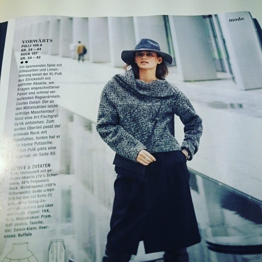 The usuper!  Pullover 109 from Burda 10/2015