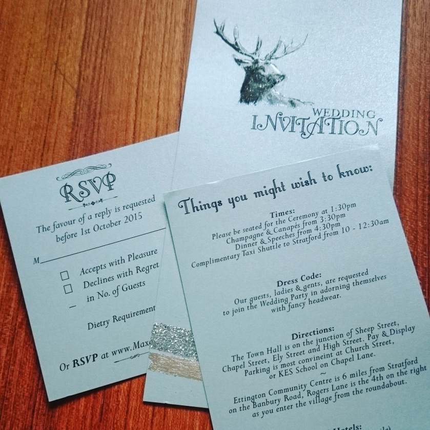 The dreaded invitation...