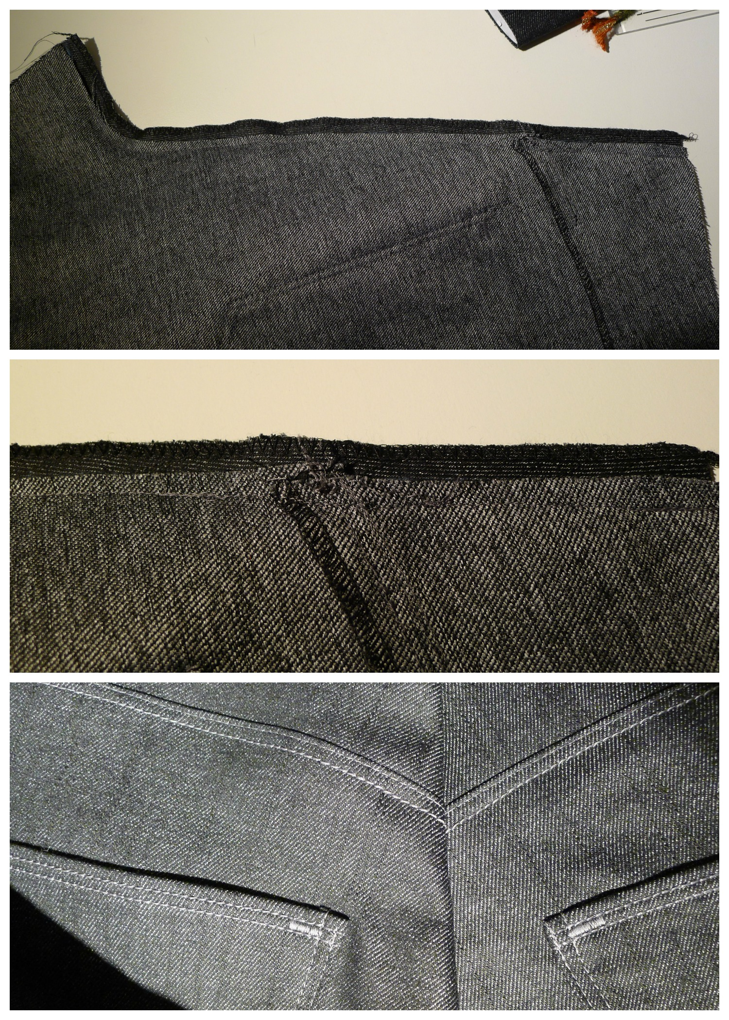 Collage back seam detail