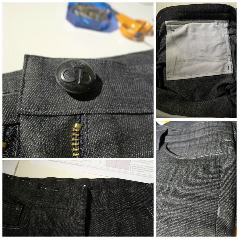 Collage fly zip front pockets
