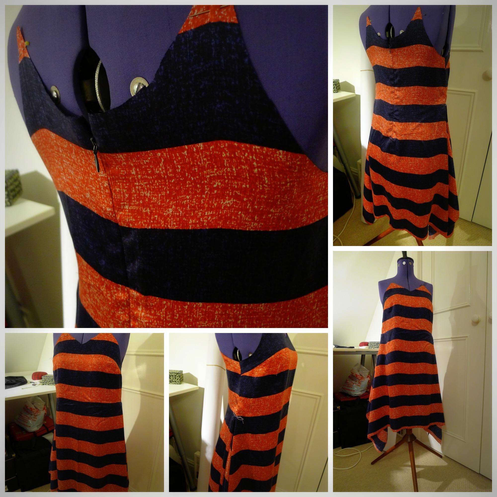 Collage handerchief dress