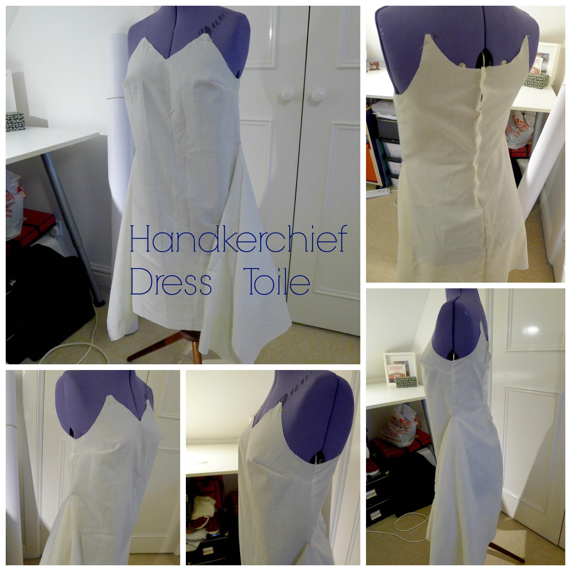 Collage Handkerchief Dress Toile