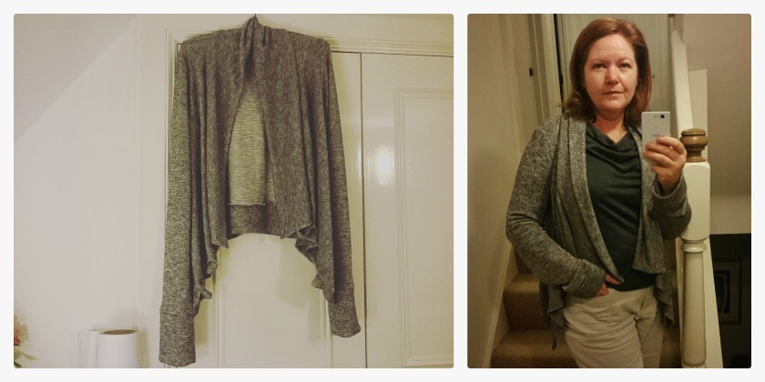 Longley Cardi with the long cuffs