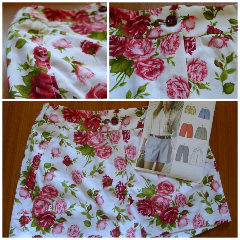 Collage vogue shorts floral