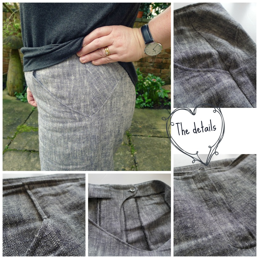 Collage grey linen