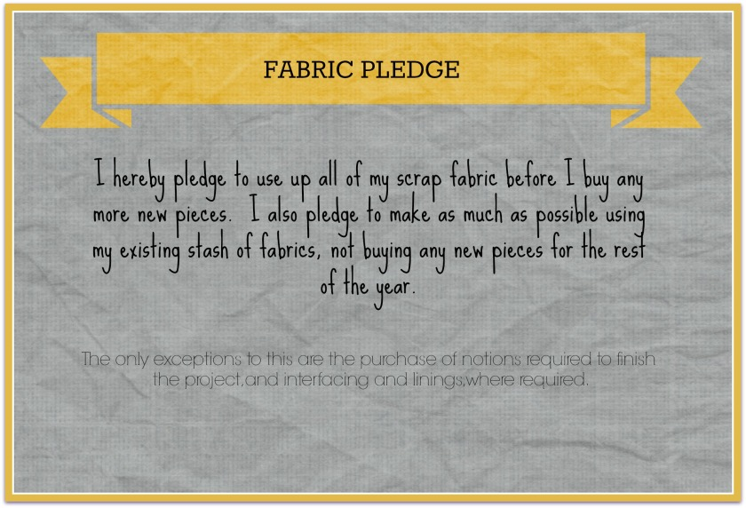 Fabric pledge