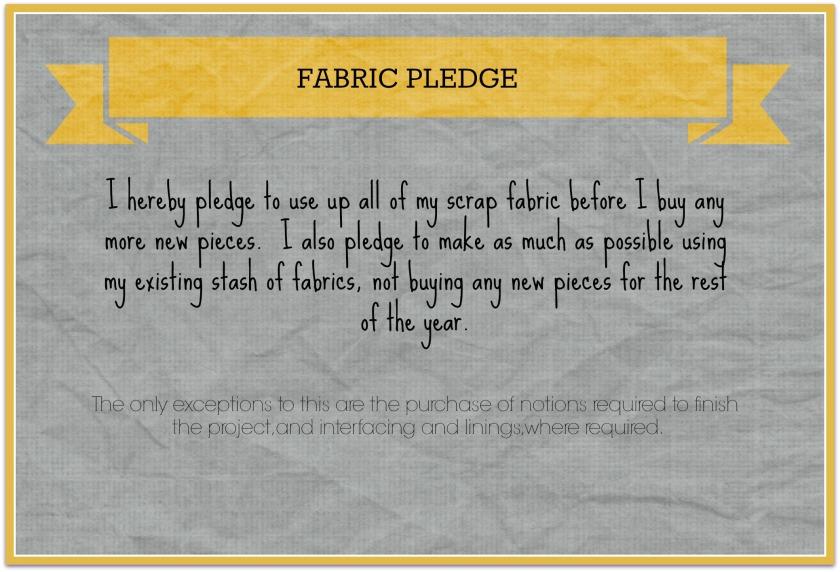 Fabric pledge