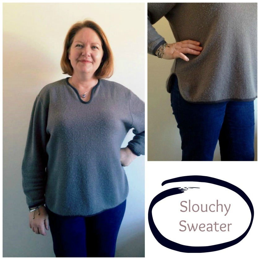 collage slouchy sweater