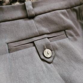 Completed back welt pocket