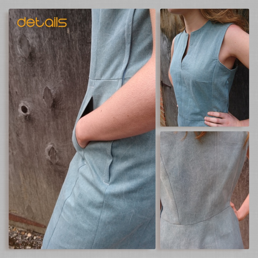 collage denim dress 2