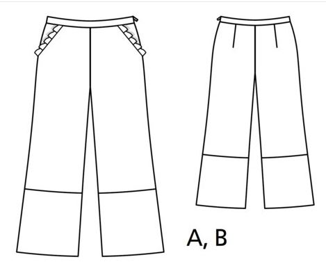 burda flared trousers