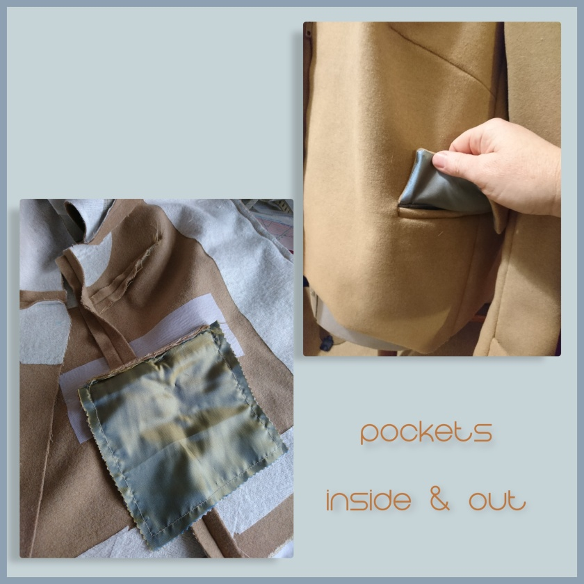collage coat pocket