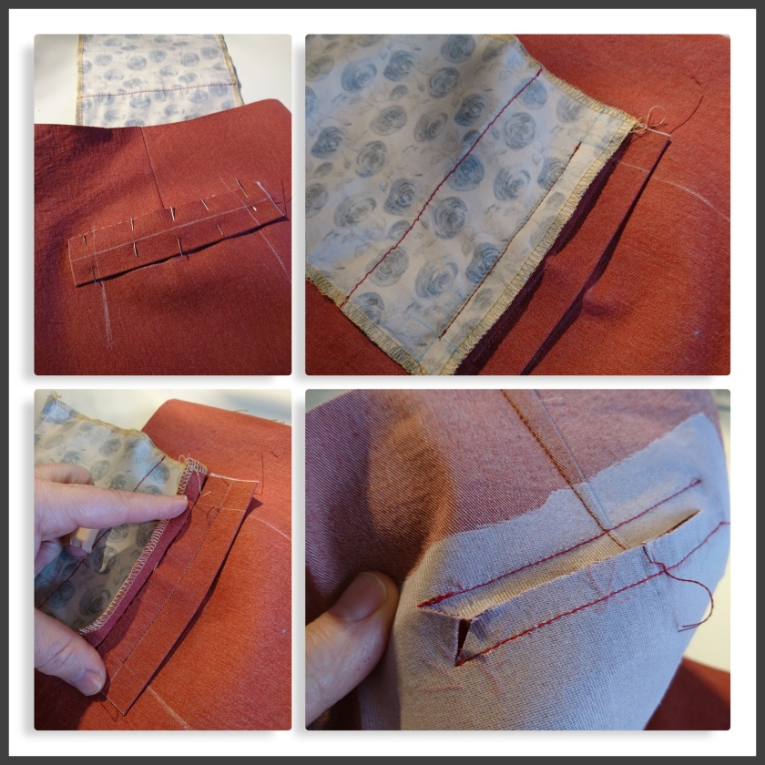 collage welt pocket rust