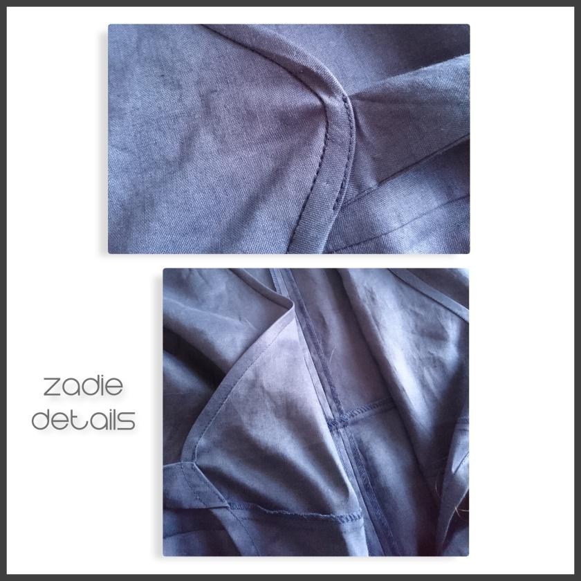 colage blue zadie details