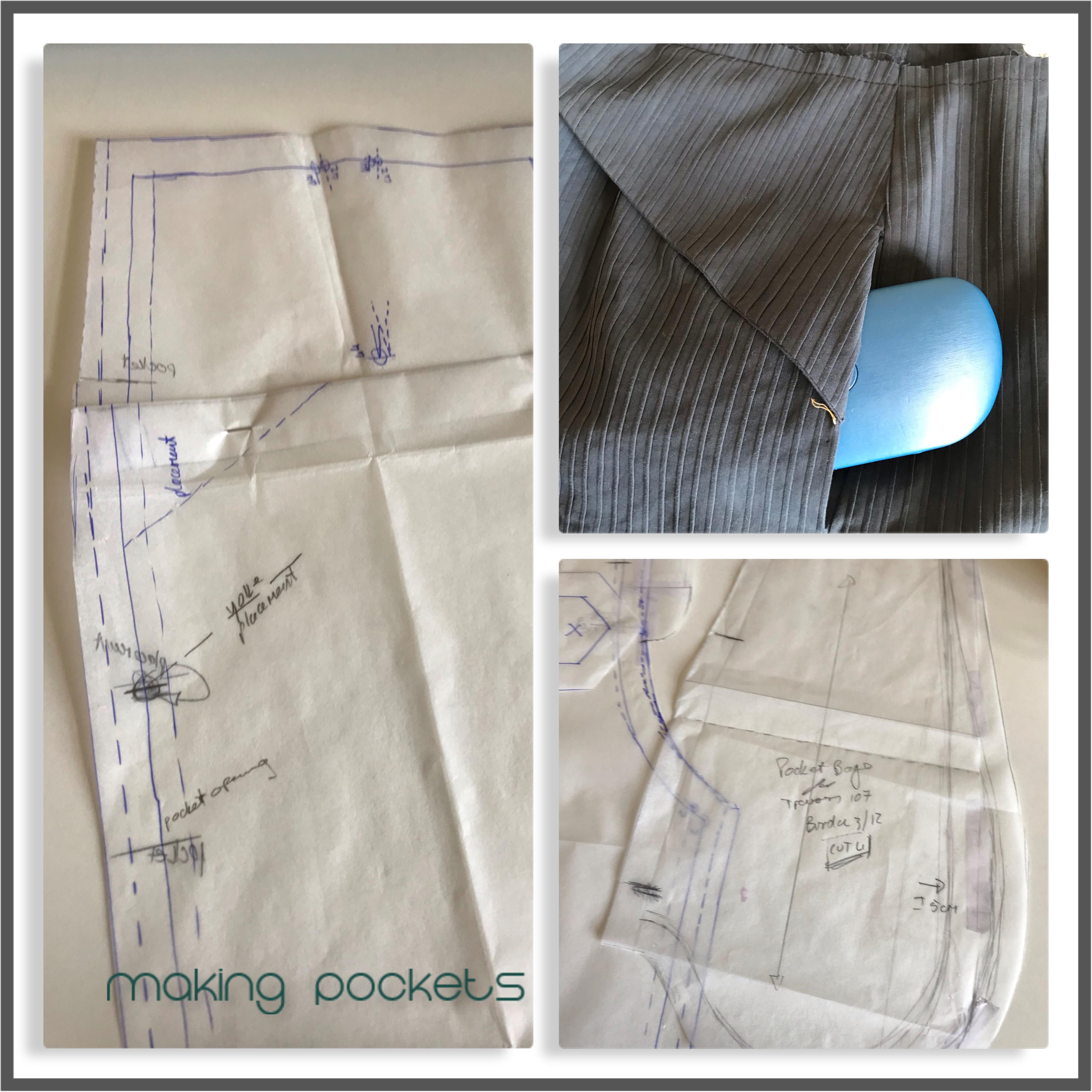 collage inseam pockets